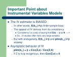 important point about instrumental variables models24