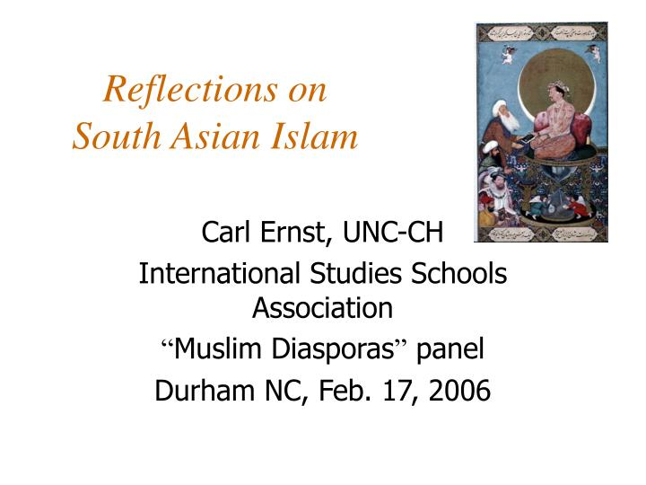 reflections on south asian islam n.