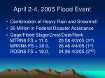 april 2 4 2005 flood event36