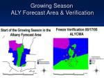 growing season aly forecast area verification