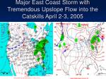 major east coast storm with tremendous upslope flow into the catskills april 2 3 2005