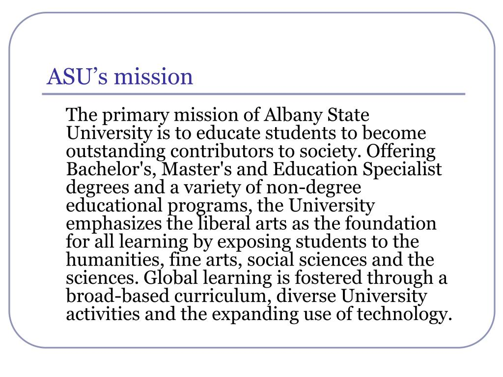 ASU's mission