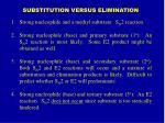 substitution versus elimination
