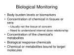 biological monitoring