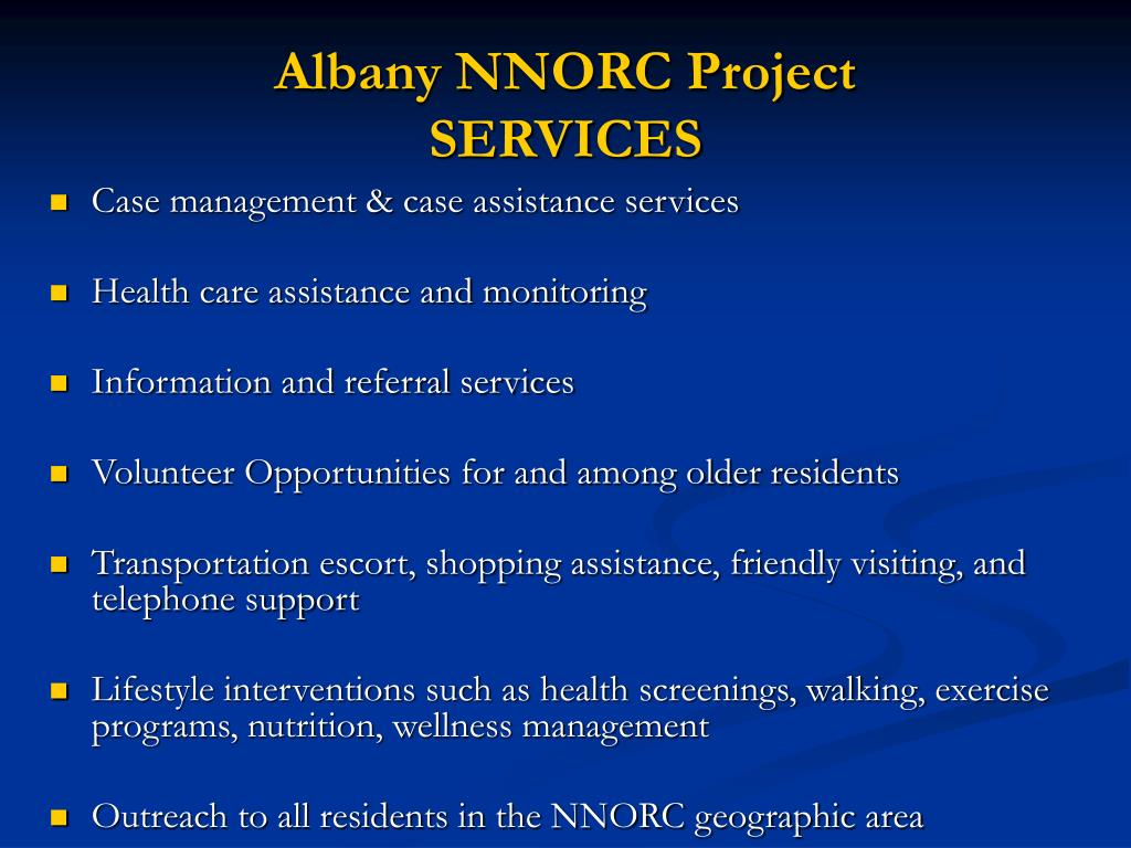 Albany NNORC Project