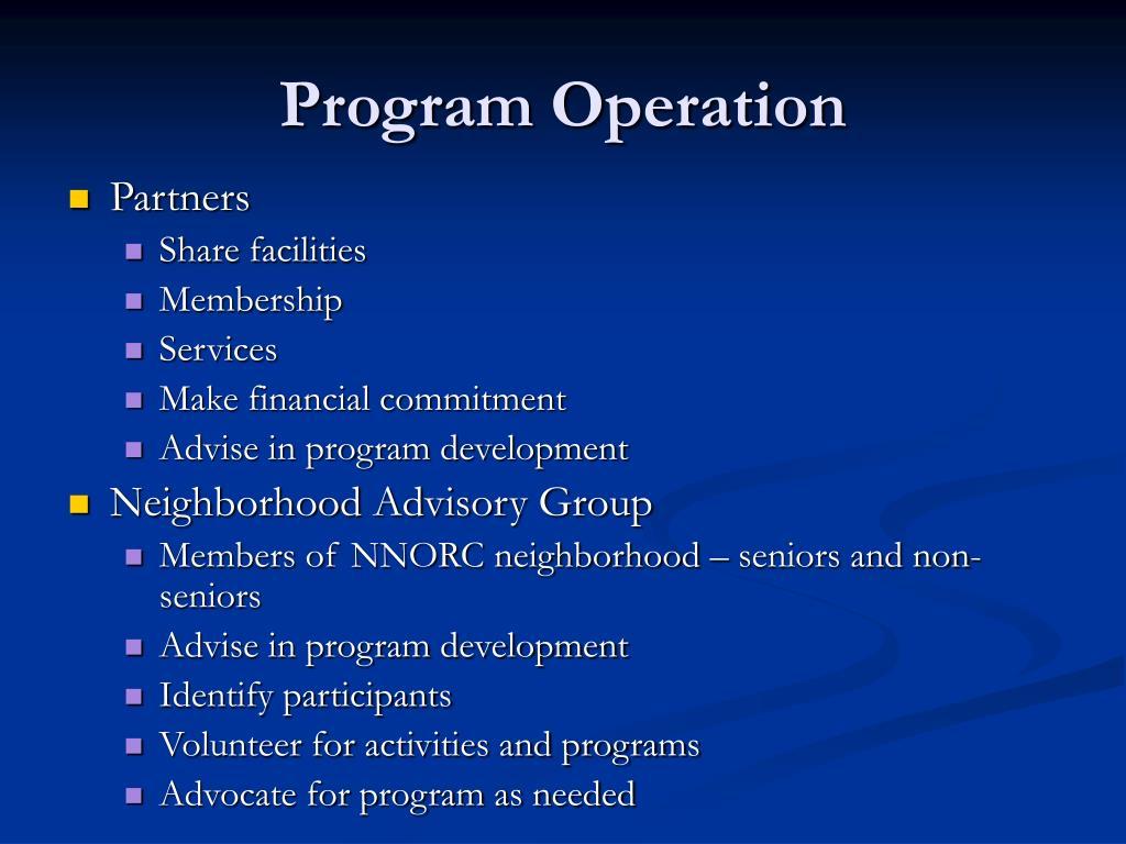 Program Operation