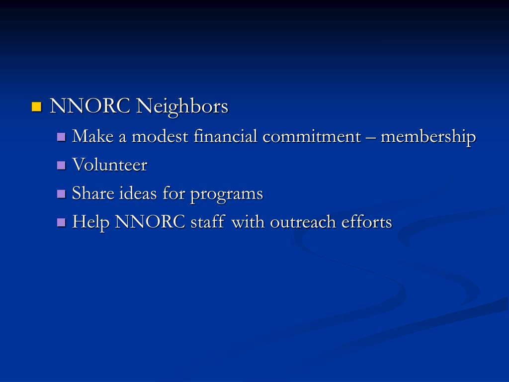 NNORC Neighbors
