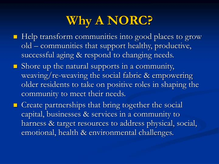 Why a norc