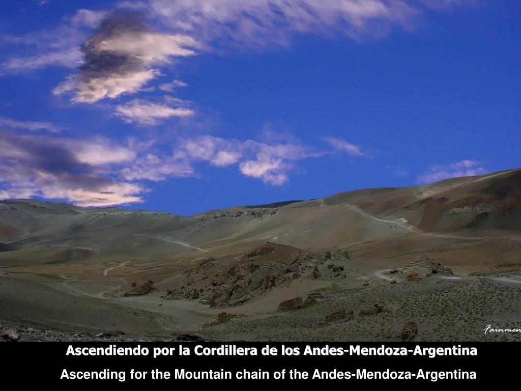 Ascendiendo por la Cordillera de los Andes-Mendoza-Argentina