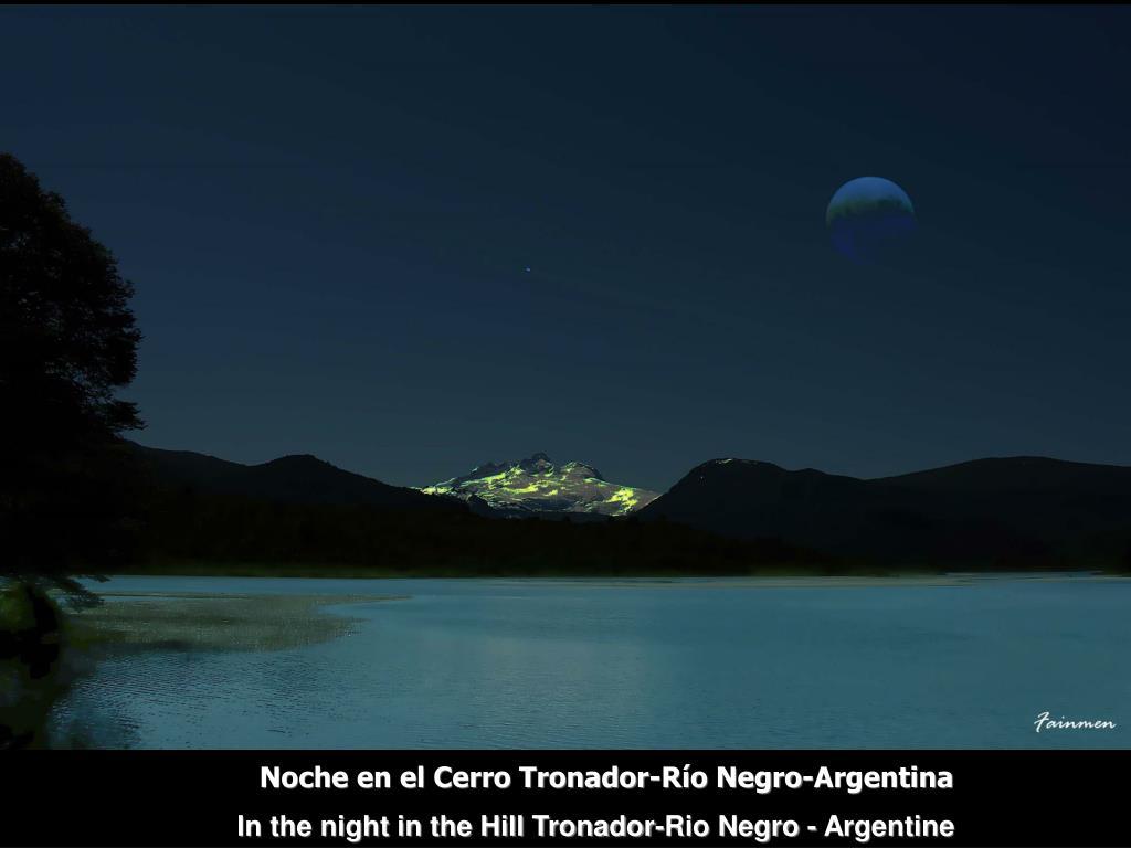 Noche en el Cerro Tronador-Río Negro-Argentina