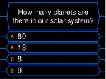how many planets are there in our solar system