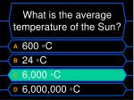 what is the average temperature of the sun48