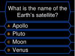what is the name of the earth s satellite