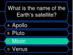 what is the name of the earth s satellite12