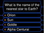what is the name of the nearest star to earth