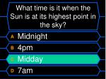 what time is it when the sun is at its highest point in the sky36