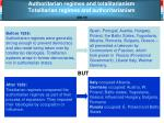 authoritarian regimes and totalitarianism totalitarian regimes and authoritarianism ed 37