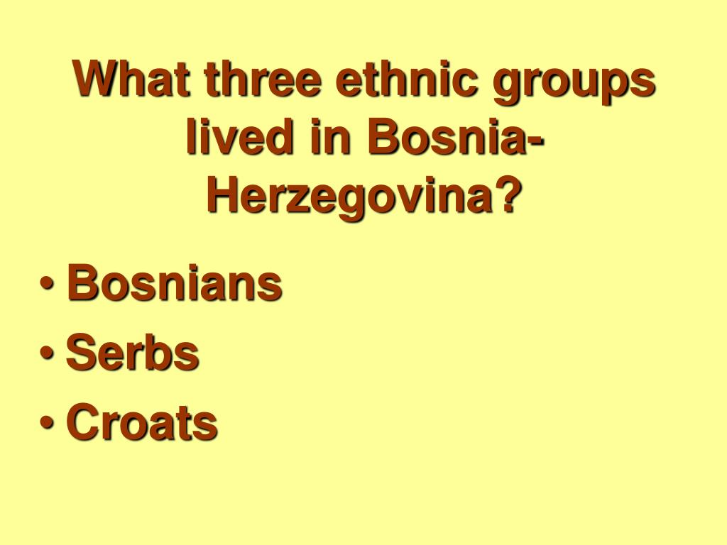 What three ethnic groups lived in Bosnia-Herzegovina?