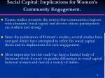 social capital implications for women s community engagement