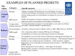 examples of planned projects