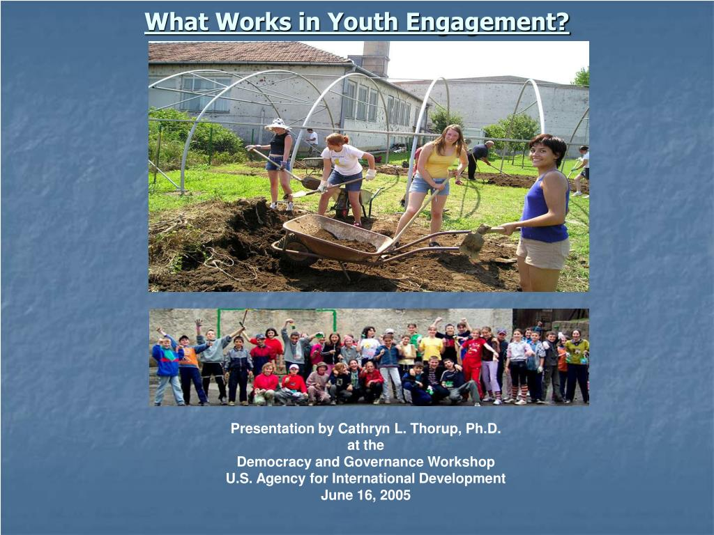 what works in youth engagement l.