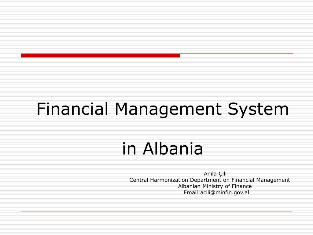 financial management system in albania l.