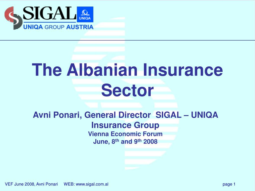 the albanian insurance sector l.