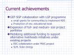 current achievements