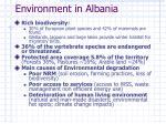 environment in albania