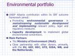 environmental portfolio