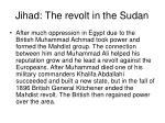 jihad the revolt in the sudan