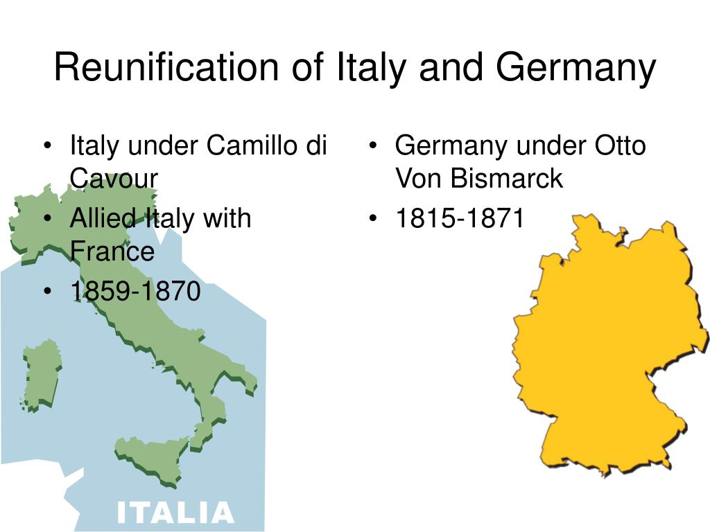 Reunification of Italy and Germany