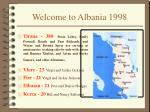 welcome to albania 1998