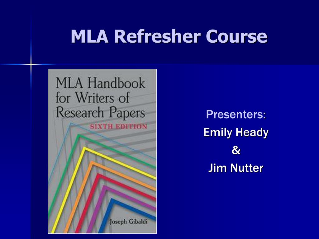 mla refresher course l.