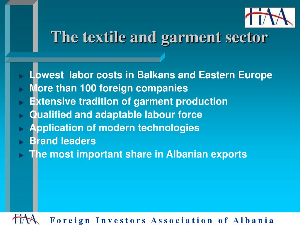 The textile and garment sector