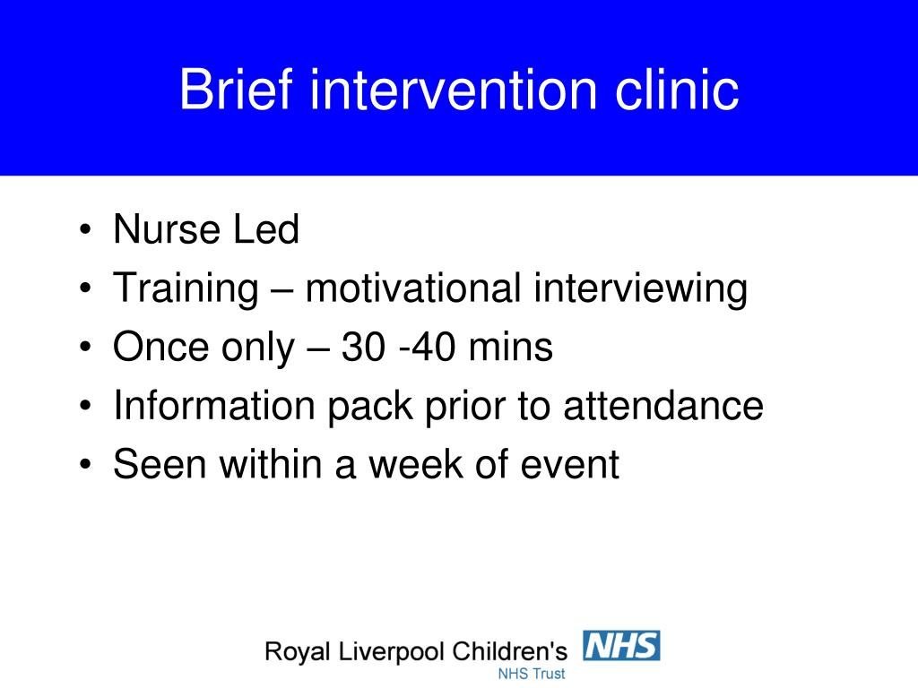 Brief intervention clinic