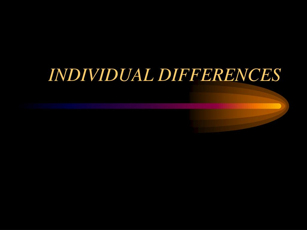 individual differences l.