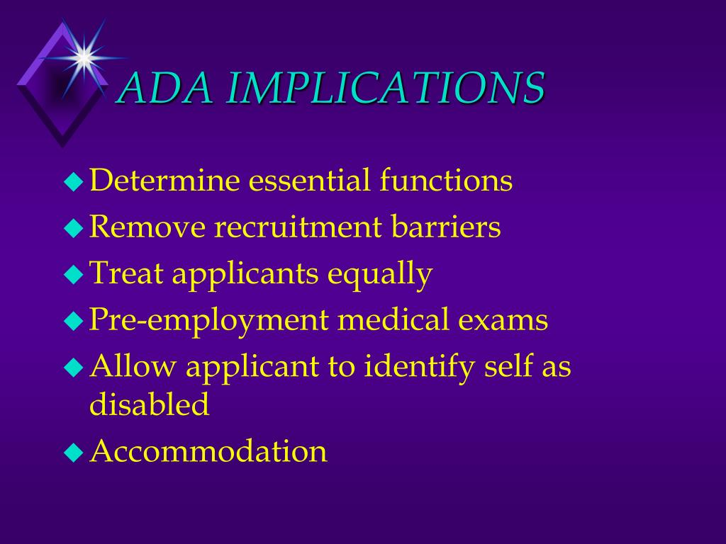 ADA IMPLICATIONS