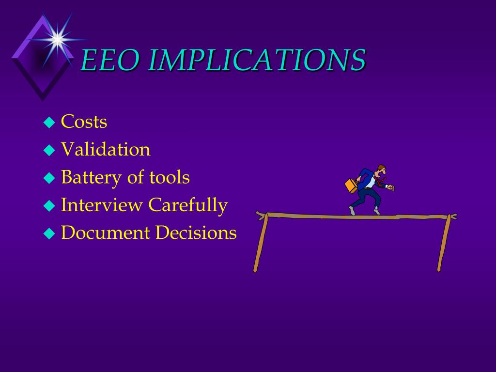 EEO IMPLICATIONS