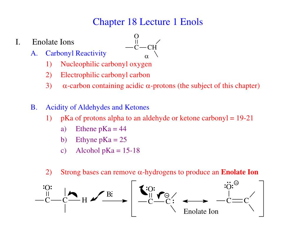 chapter 18 lecture 1 enols l.