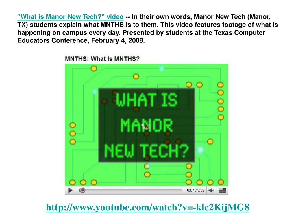 """What is Manor New Tech?"" video"