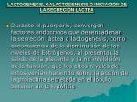 lactogenesis galactogenesis o iniciaci n de la secreci n lactea
