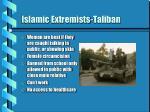 islamic extremists taliban