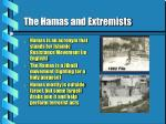 the hamas and extremists