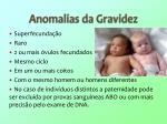 anomalias da gravidez