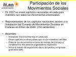 participaci n de los movimientos sociales18