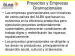 proyectos y empresas grannacionales
