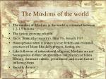 the muslims of the world