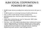 alba social cooperation is powered by cuba