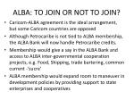 alba to join or not to join24